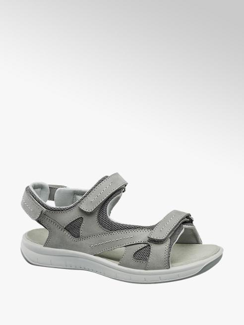 Medicus Šedé kožené komfortní sandály Medicus