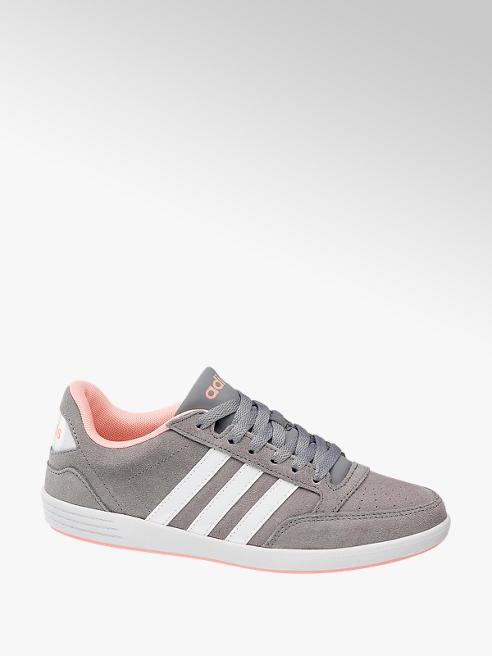 adidas Šedé kožené tenisky Adidas Vl Hoops Low