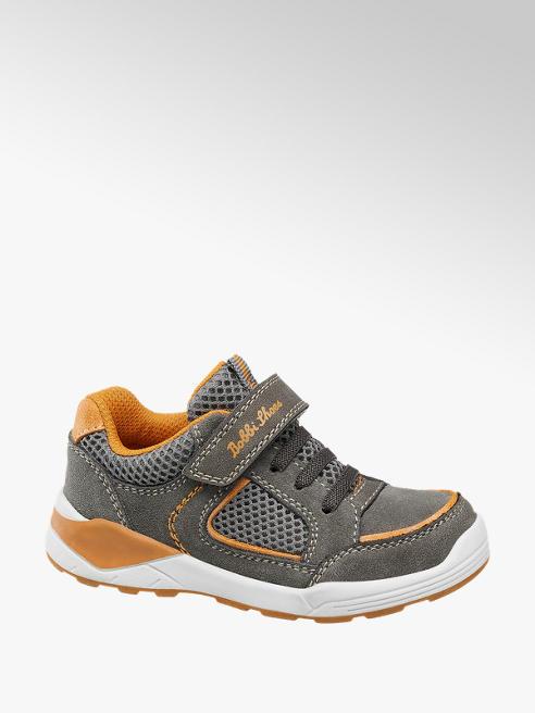 Bobbi-Shoes Šedé tenisky na suchý zip Bobbi-Shoes