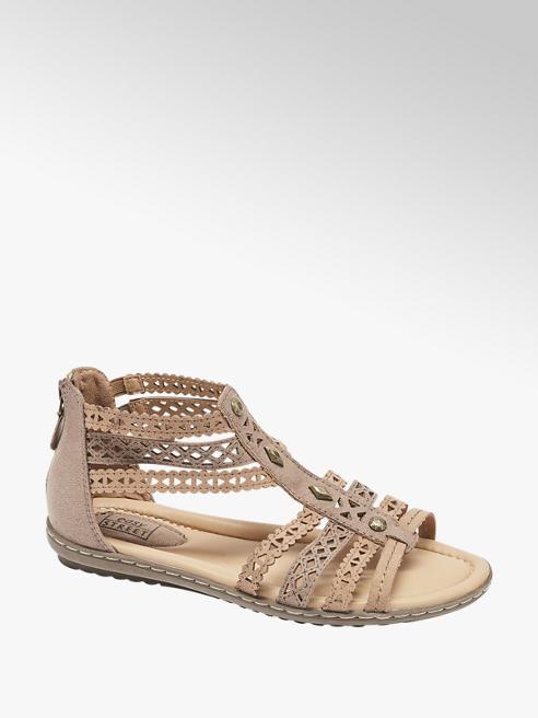 Easy Street Šedobéžové komfortní sandály Easy Street