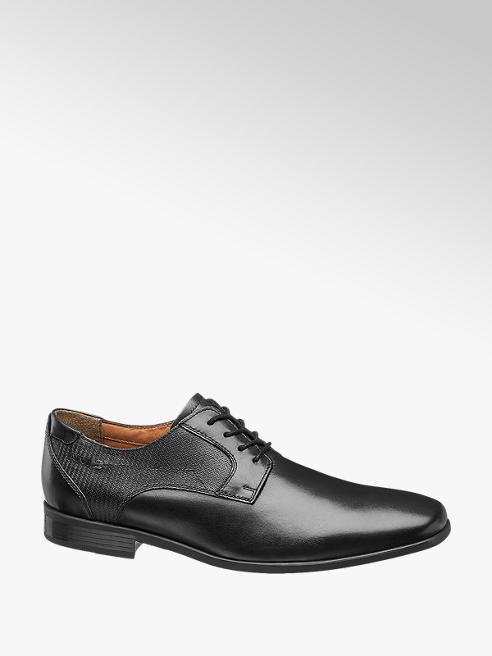 AM SHOE eleganckie buty męskie AM SHOE w kolorze czarnym
