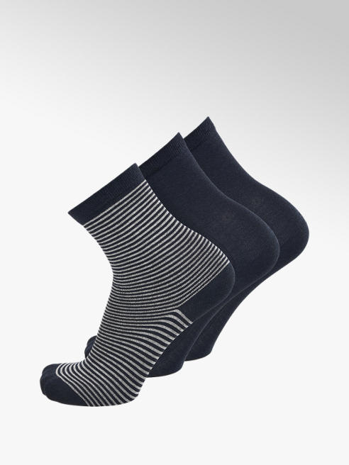 5th Avenue 3er Pack Knöchelsocken