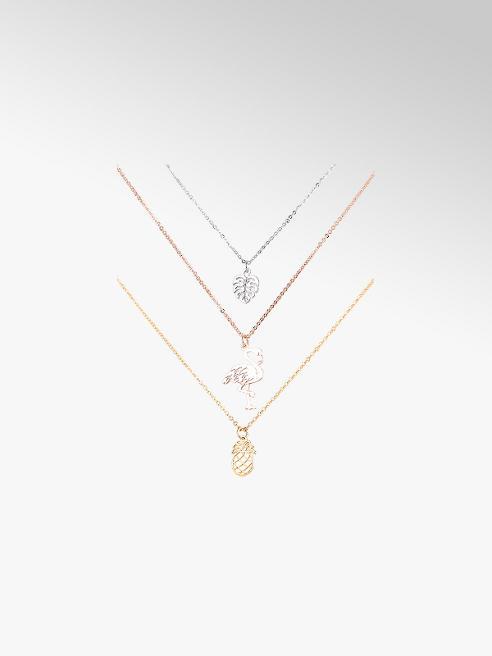 Six 3er Set Halsketten