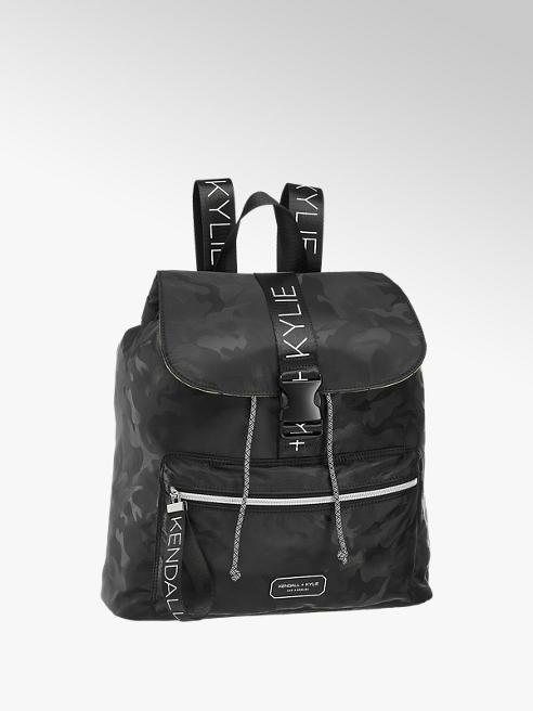 Kendall + Kylie Černý batoh s maskáčovým vzorem Kendall + Kylie