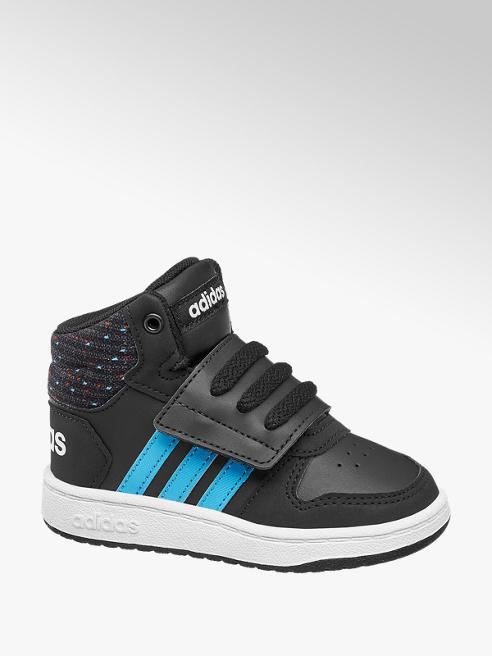 adidas Černé dětské kotníkové tenisky Adidas Hoops Mid 2.0