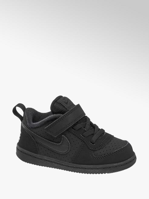 NIKE Černé dětské tenisky na suchý zip Nike Court Borough