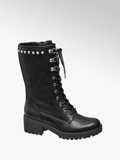 Graceland Černá dívčí kotníková obuv Graceland se zipem