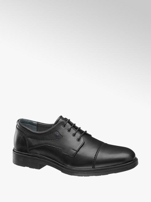 Gallus Černá kožená komfortní společenská obuv Gallus