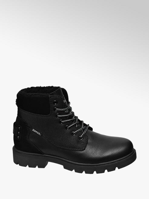 Bench Černá kožená kotníková obuv Bench
