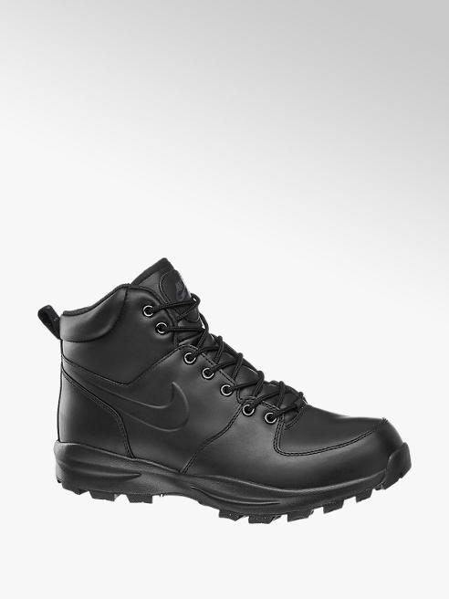 NIKE Černé kožené kotníkové tenisky Nike Manoa