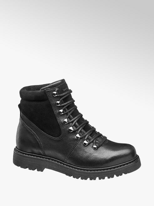 Wojas Černá kožená šněrovací obuv Wojas