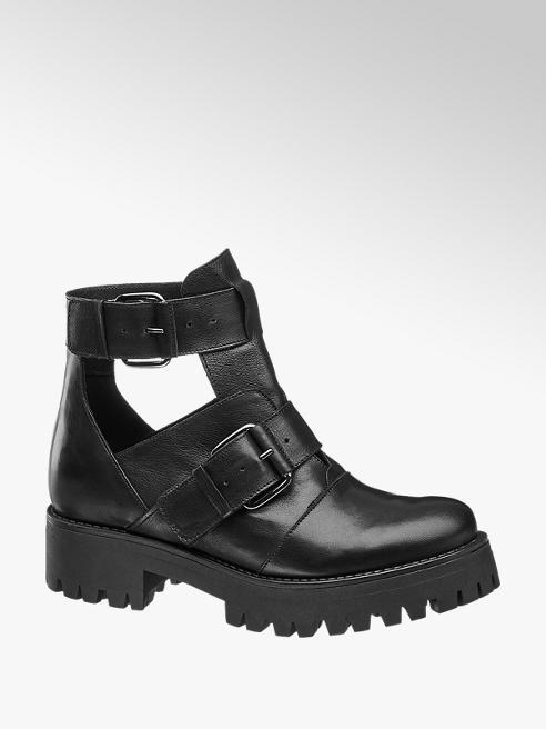 5th Avenue Černá kožená obuv 5th Avenue