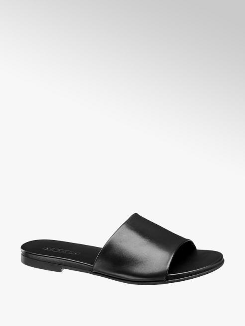 5th Avenue Černé kožené pantofle 5th Avenue