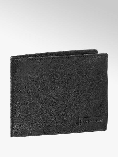 Union Code Černá kožená pánská peněženka Union Code