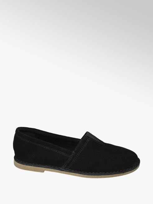 5th Avenue Černá kožená slip-on obuv 5th Avenue