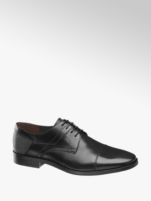 AM SHOE Černá kožená společenská obuv AM Shoe