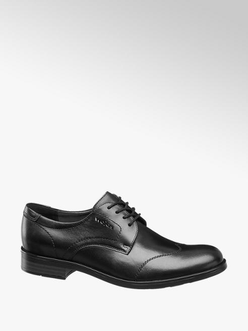 Wojas Černá kožená společenská obuv Wojas