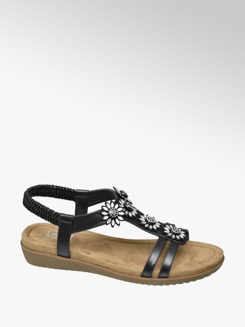 Easy Street Černé komfortní sandály Easy Street