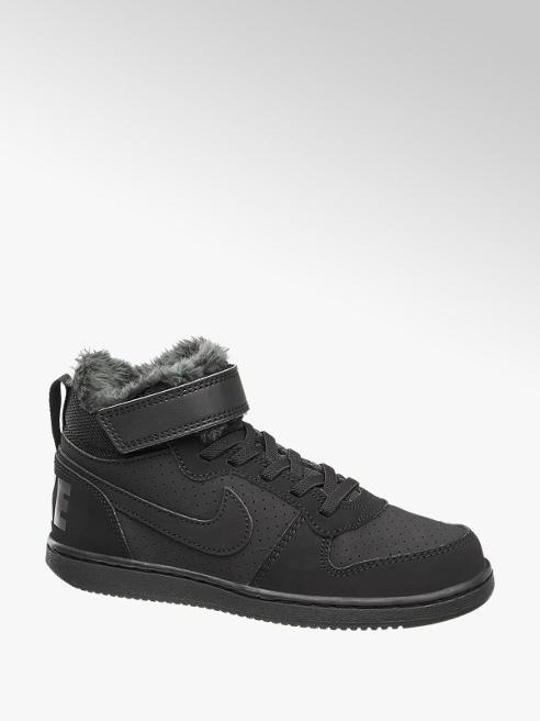 NIKE Černé kotníkové tenisky na suchý zip Nike Court Borough