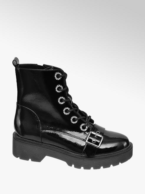 Catwalk Černá šněrovací obuv Catwalk se zipem