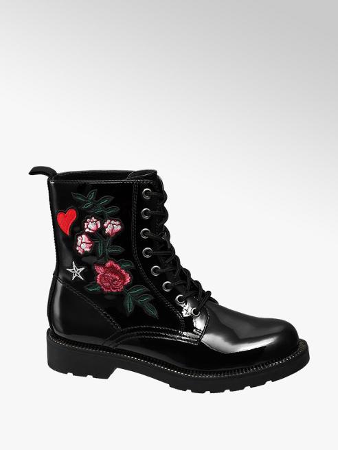 Graceland Černá šněrovací obuv Graceland