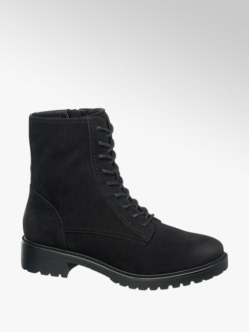 Graceland Černá šněrovací obuv Graceland se zipem