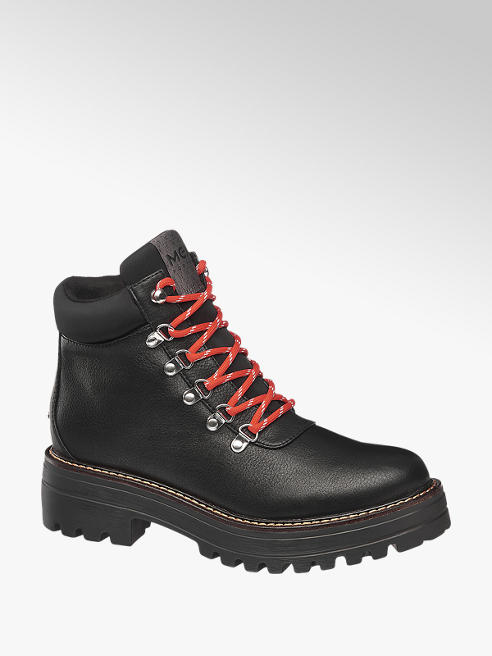 MEXX Černá šněrovací obuv Mexx se zipem