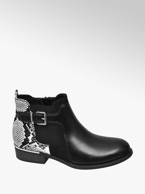 Graceland Černá obuv Chelsea Graceland se zvířecím vzorem