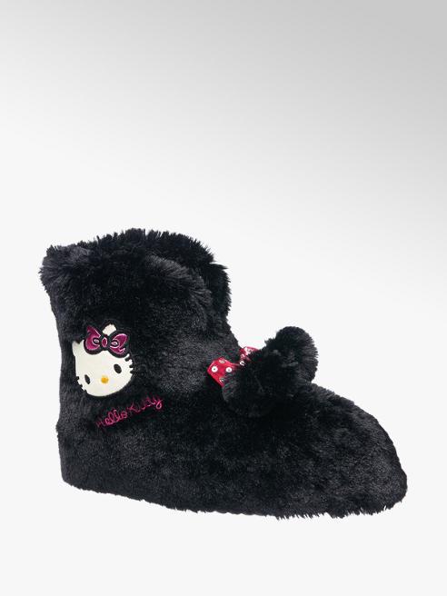 HELLO KITTY Černé papuče Hello Kitty