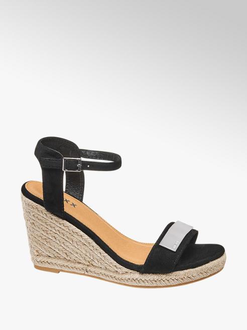 MEXX Černé sandály na klínku Mexx