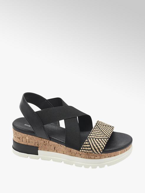 Graceland Černé sandály na platformě Graceland