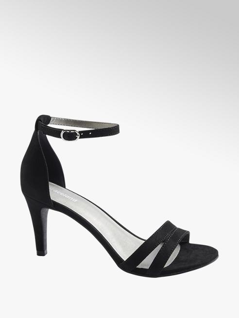 Graceland Černé sandály na podpatku