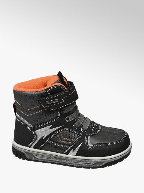 Cortina Černo-šedá kotníková obuv na suchý zip Cortina s TEX membránou
