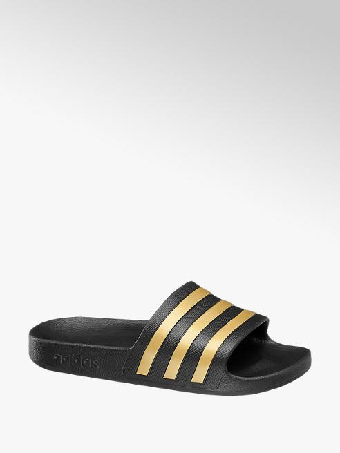 adidas Černo-zlaté pantofle Adidas