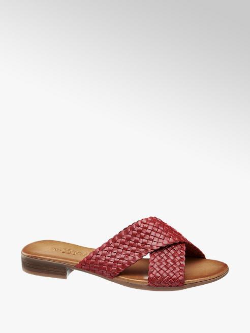 5th Avenue Červené kožené pantofle 5th Avenue