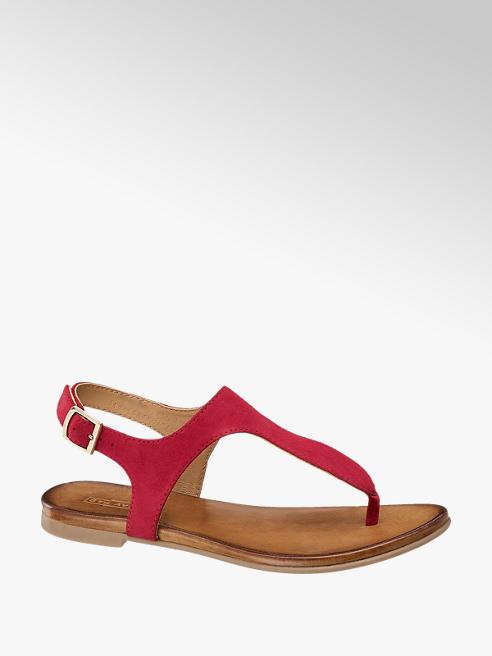 5th Avenue Červené kožené sandály 5th Avenue