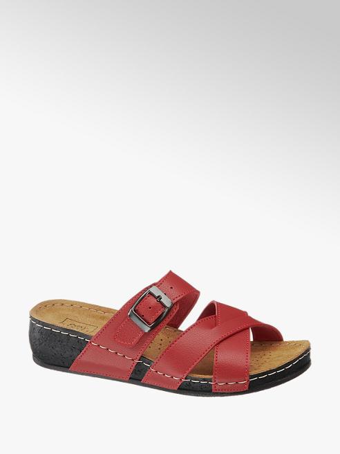 Easy Street Červené komfortní pantofle Easy Street
