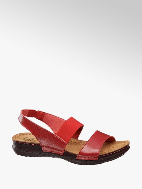 Easy Street Červené komfortní sandály Easy Street