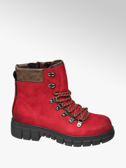 Catwalk Červená šněrovací obuv Catwalk se zipem