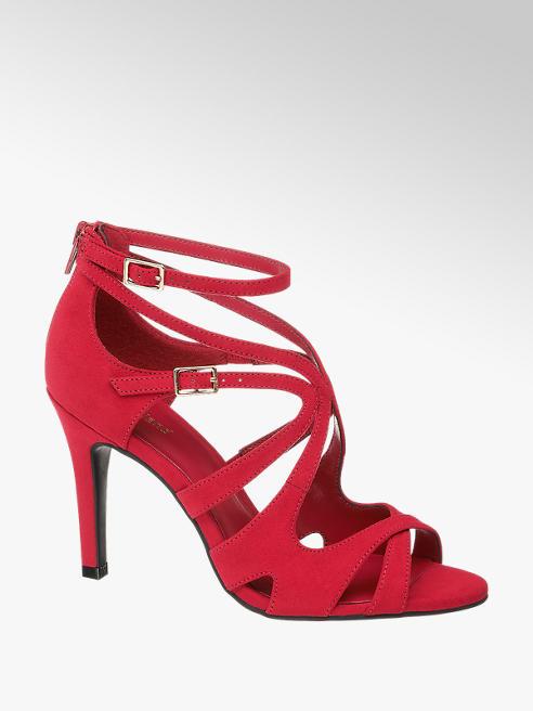 Graceland Červené sandále na podpätku Graceland
