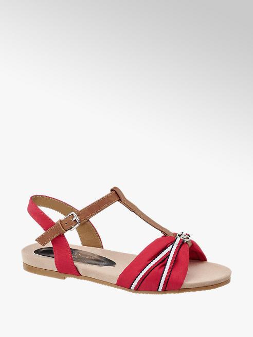 Tom Tailor Červené sandály Tom Tailor