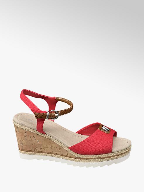 Graceland Červené sandály na klínku Graceland