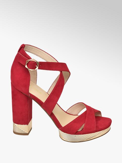 Catwalk Červené sandály na podpatku Catwalk