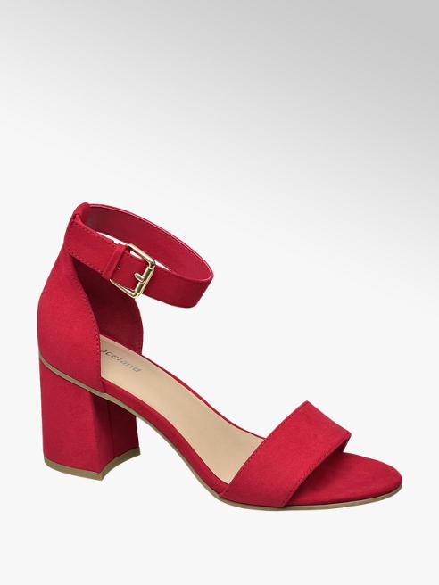 Graceland Červené sandály na podpatku Graceland