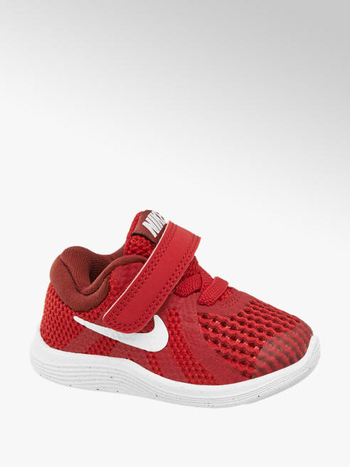 NIKE Červené tenisky na suchý zips Nike Revolution 4