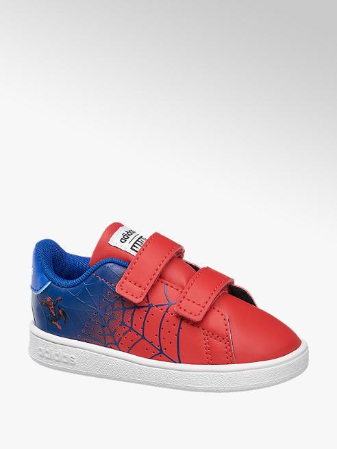 adidas Červeno-modré dětské tenisky na suchý zip Adidas s motivem Spider-Man