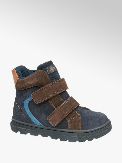 Bobbi-Shoes granatowo-brązowe kozaczki chłopięce Bobbi-Shoes