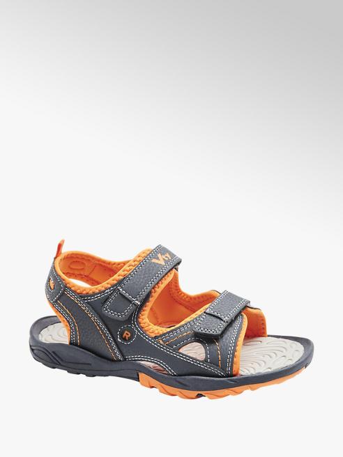 Vty granatowo-pomarańczowe sandały chłopięce Vty