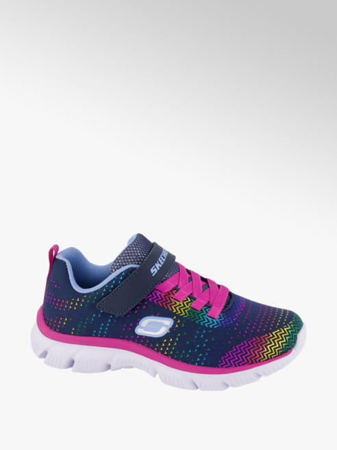 Skechers granatowo-różowe sneakersy dziewczęce Skechers