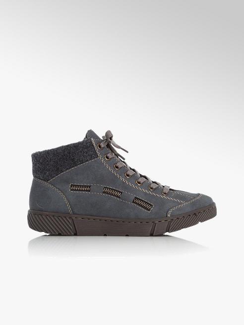 Rieker granatowo-szare sznurowane buty damskie Rieker